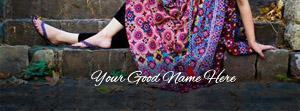 Girl in Casuals Name Facebook Cover