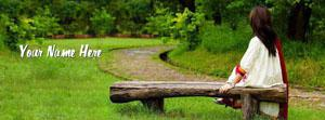 Girl Sitting Alone Name Facebook Cover
