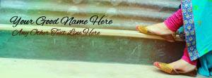 Girl Stylish Shoes Name Facebook Cover