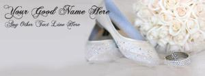 Girly Shoes and Ring Name Facebook Cover Photos