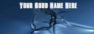 Glass Roze Name Facebook Cover