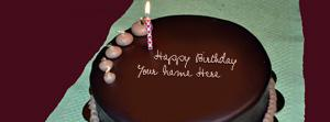 Happy Birthday Chocolate Cake Name Facebook Cover
