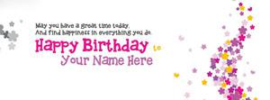 Happy Birthday Wish Name Facebook Cover