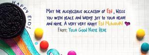Happy Eid Mubarak Name Facebook Cover