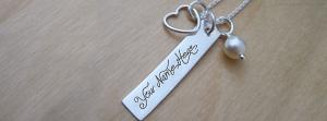 Heart Charm Rectangle Necklace Name Facebook Cover