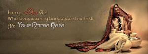 I am a Desi Girl Name Facebook Cover