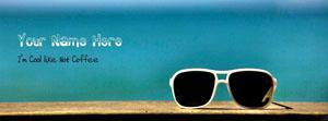 I am Cool like Hot Coffee Name Facebook Cover