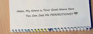 I am Perfectionist Name Facebook Cover