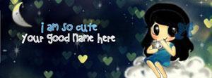 I am so cute Name Facebook Cover