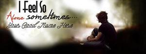 I feel so Alone Name Facebook Cover