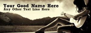 I Play Guitar Name Facebook Cover