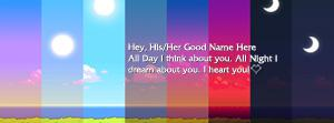 I think about you Name Facebook Cover