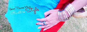 Its all in Style Name Facebook Cover