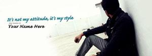 Its not my Attitude Its my Style Name Facebook Cover