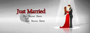 Just Married Name Cover