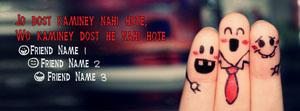 Kaminey Dost Name Facebook Cover