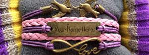 Love Birds Bracelet Name Cover