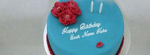 Lovely Ice Cream Cake Name Facebook Cover