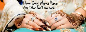 Lovely Wedding Hands Name Facebook Cover