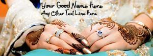 Lovely Wedding Hands Name Facebook Cover