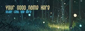 Magic Forest Name Facebook Cover