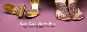 Mehndi is my jewlery Name Facebook Cover