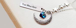Moon Heart Necklace Name Facebook Cover