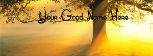 Morning Sunlight Name Facebook Cover