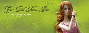 Most Beautiful Doll Name Facebook Cover