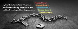 My Friends Make Me Happy Name Cover