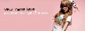 Naughty Cute Girl Name Facebook Cover