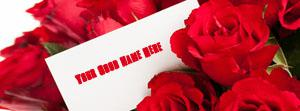 Note with Roses Name Cover
