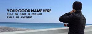 Only my name is enough Name Facebook Cover