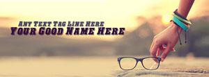 Picking My Glasses Name Facebook Cover