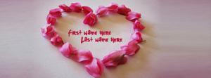 Pink Flowers Heart