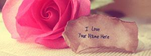 Pink Rose with Love Note