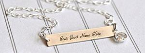 Plain Necklace Name Facebook Cover