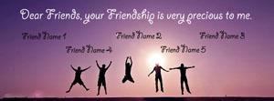 Precious Friendship Name Facebook Cover