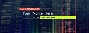 Programmer Coder Name Facebook Cover