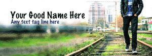 Sad alone boy Name Facebook Cover