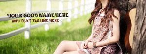 Sad Alone Girl Name Facebook Cover