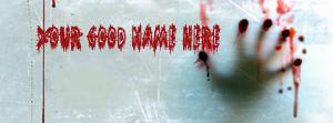 Scary Bloody Hand Name Facebook Cover