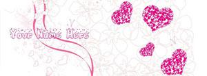 Scrap Bubbles and Hearts Name Facebook Cover