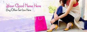 Shopping Girl Name Facebook Cover