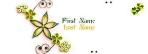 Simple is Beautiful 3 Name Facebook Cover