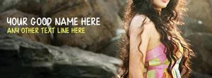 Stylish Curly Hair Girl Name Facebook Cover