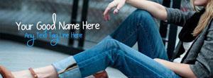 Stylish dashing girl Name Facebook Cover
