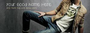 Super Model Boy Name Facebook Cover