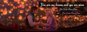 Tangled Romantic Name Facebook Cover