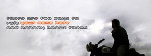 There are tow ways to rule me Name Facebook Cover